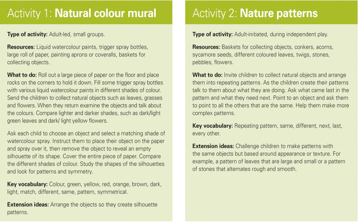 These activities take full advantage of these natural resources